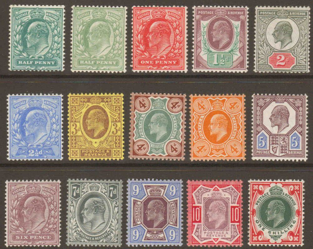 1902 Edward Vii Basic Stamp Set Of 15 Unmounted Mint